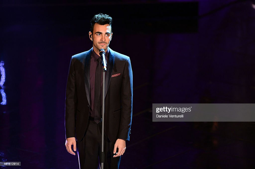Marco Mengoni attends the closing night of the 63rd Sanremo Song Festival at the Ariston Theatre on February 16, 2013 in Sanremo, Italy.
