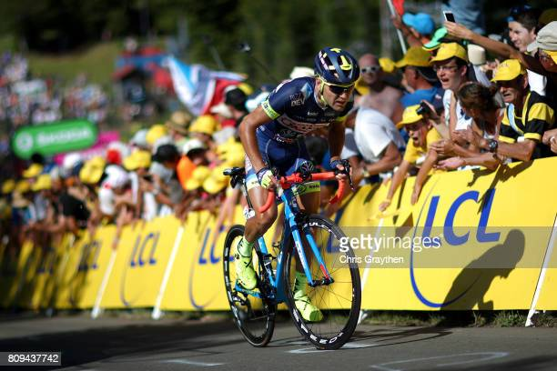 Marco Minnaard of Netherlands riding for WantyGroupe Gobert rides during stage five of the 2017 Le Tour de France a 1605km stage from Vittel to La...