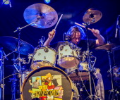 Marco Minneman of The Aristocrats performs on stage at the Assembly on February 19 2014 in Leamington Spa United Kingdom