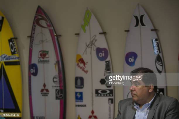 Marco Norci Schroeder chief executive officer of Oi SA listens during an interview at the company's headquarters in Rio de Janeiro Brazil on Monday...