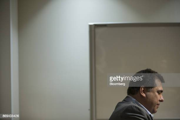 Marco Norci Schroeder chief executive officer of Oi SA pauses while speaking during an interview at the company's headquarters in Rio de Janeiro...