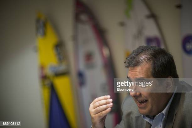 Marco Norci Schroeder chief executive officer of Oi SA speaks during an interview at the company's headquarters in Rio de Janeiro Brazil on Monday...