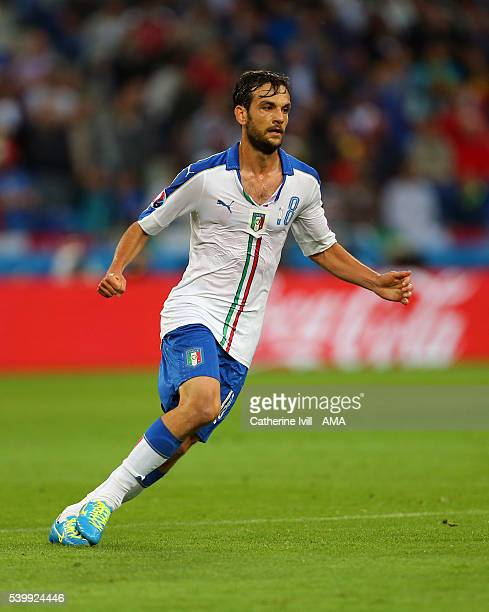 Marco Parolo of Italy during the UEFA EURO 2016 Group E match between Belgium and Italy at Stade des Lumieres on June 13 2016 in Lyon France
