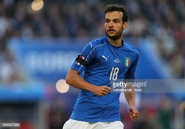 Marco Parolo of Italy during the UEFA Euro 2016 quarter final match between Germany and Italy at Stade Matmut Atlantique on July 2 2016 in Bordeaux...