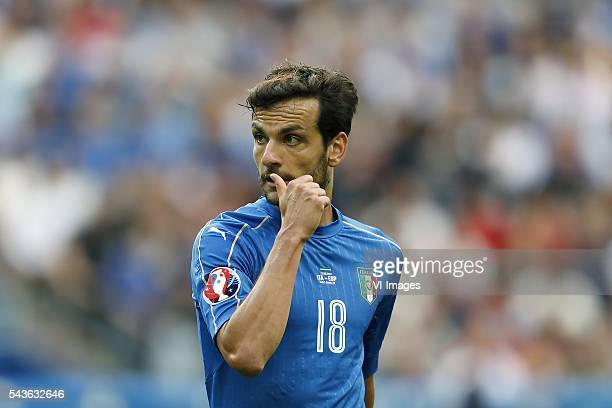 Marco Parolo of Italy during the UEFA Euro 2016 round of 16 match between Italy and Spain on June 27 2016 at the Stade de France in Paris France