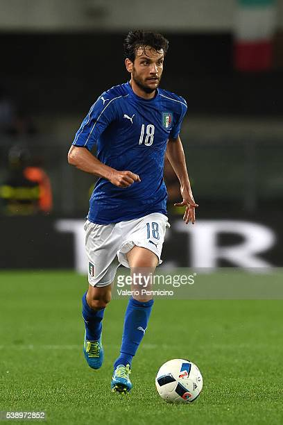 Marco Parolo of Italy in action during the international friendly match between Italy and Finland on June 6 2016 in Verona Italy
