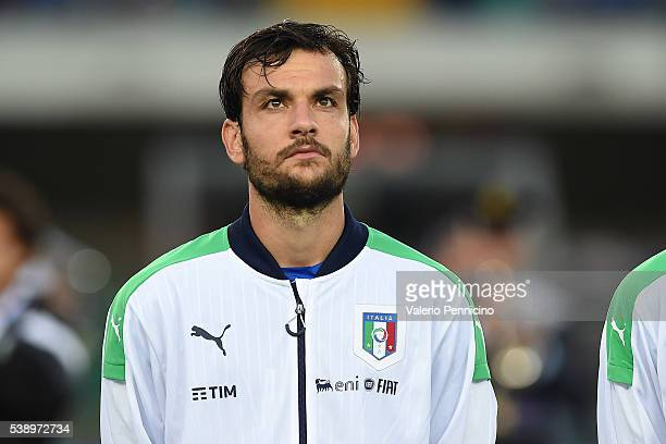 Marco Parolo of Italy looks on during the international friendly match between Italy and Finland on June 6 2016 in Verona Italy