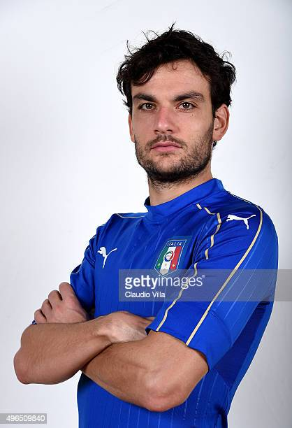Marco Parolo of Italy poses during the official portrait session at Coverciano on November 10 2015 in Florence Italy