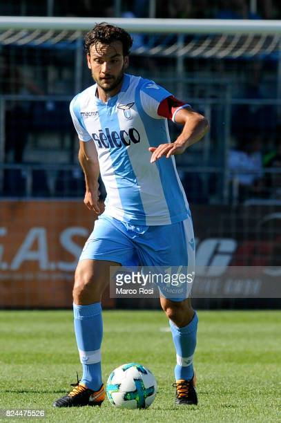 Marco Parolo of SS Lazio in action during the preseason friendly match between SS Lazio and Bayer Leverkusen at GoldbergStadion on July 30 2017 in...
