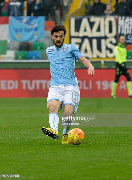Marco Parolo of SS Lazio in action during the Serie A match between Udinese Calcio and SS Lazio at Dacia Arena on January 31 2016 in Udine Italy