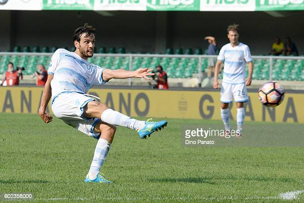 Marco Parolo of SS Lazio in action during the Serie A match between AC ChievoVerona and SS Lazio at Stadio Marc'Antonio Bentegodi on September 11...