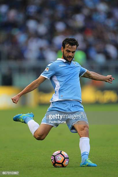Marco Parolo of SS Lazio in action during the Serie A match between SS Lazio and Pescara Calcio at Stadio Olimpico on September 17 2016 in Rome Italy