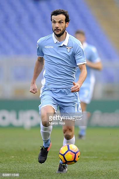 Marco Parolo of SS Lazio in action during the Serie A match between SS Lazio and FC Crotone at Stadio Olimpico on January 8 2017 in Rome Italy