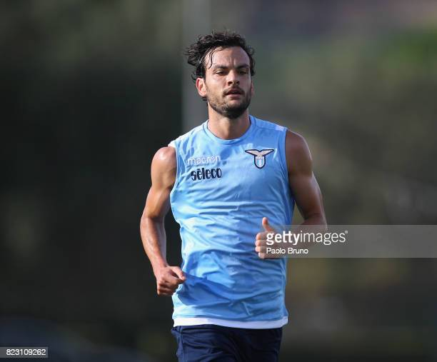 Marco Parolo of SS Lazio in action during the SS Lazio preseason training session on July 26 2017 in Rome Italy