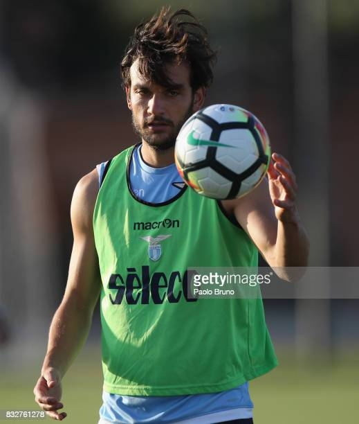 Marco Parolo of SS Lazio in action during the SS Lazio training session on August 16 2017 in Rome Italy
