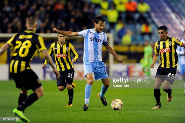 Marco Parolo of SS Lazio in action during the UEFA Europa League group K match between Vitesse and SS Lazio at Gelredome on September 14 2017 in...
