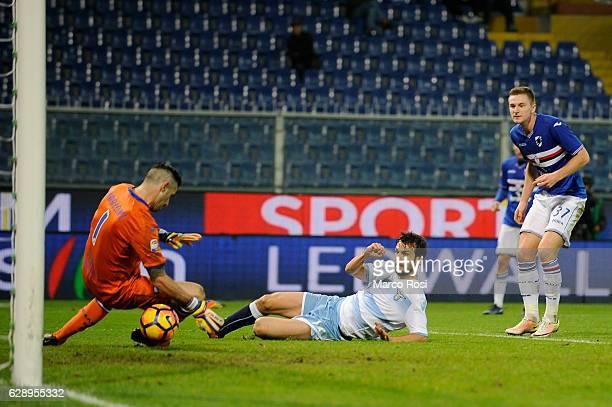 Marco Parolo of SS Lazio scores a second goal during the Serie A match between UC Sampdoria and SS Lazio at Stadio Luigi Ferraris on December 10 2016...