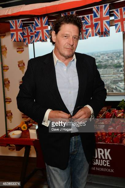 Marco Pierre White attends the Walkers 'Do Us A Flavour' finalists launch at Centrepoint on July 28 2014 in London England