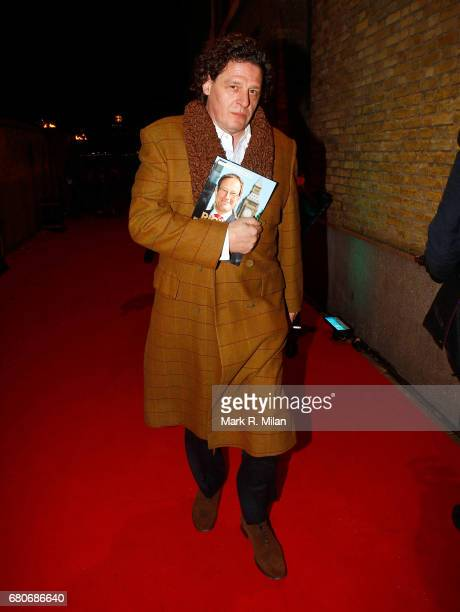 Marco Pierre White departs the 60th Birthday Celebration of Richard Desmond at Old Billingsgate Market on December 8 2011 in London England