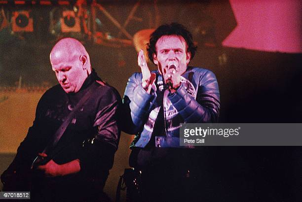 Marco Pirroni and Adam Ant of Adam and the Ants performs on stage on Adam's solo tour at The Empire Theatre in Shepherds Bush on March 22nd 1995 in...