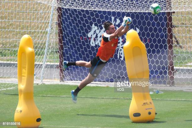Marco Pissardo of FC Internazionale attends a training session during the Inter summer tour 2017 on July 20 2017 in Nanjing Jiangsu Province of China