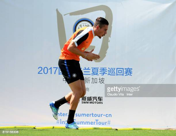 Marco Pissardo of FC Internazionale in action during a FC Interazionale training session at Suning training center on July 20 2017 in Nanjing China