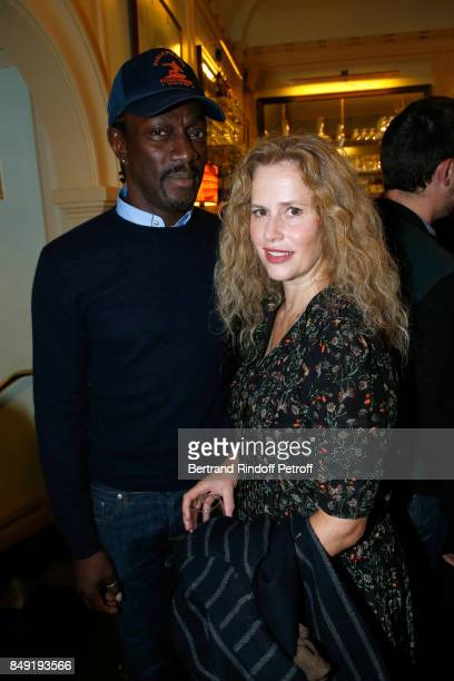 Marco prince and Florence Darel attend 'La vraie vie' Theater Play at Theatre Edouard VII on September 18 2017 in Paris France