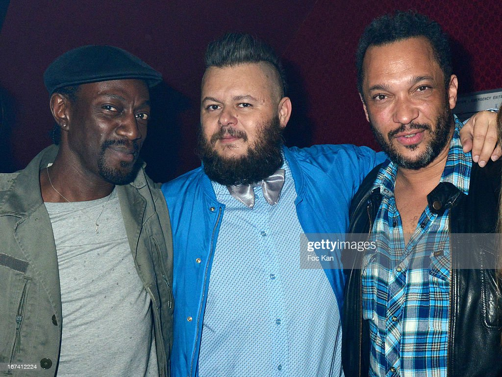Marco Prince, Greg Boust and Charles Schilling attend the Villa Schweppes Launch Party For Cannes Film Festival 2013 At Salle Wagram on April 24, 2013 in Paris, France.