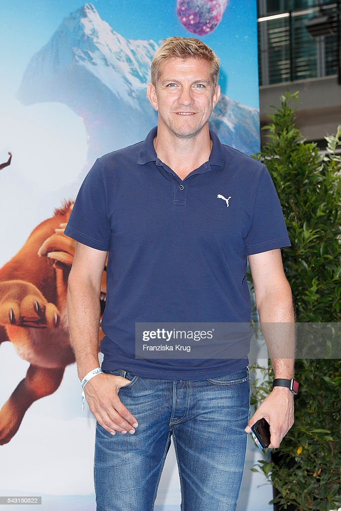 Marco Rehmer attends the 'Ice Age - Kollision Voraus' German Premiere at CineStar on June 26, 2016 in Berlin, Germany.