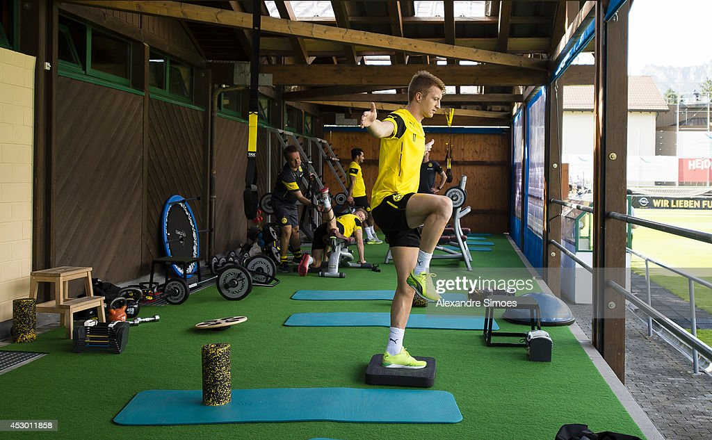 Marco Reus (BVB) of Borussia Dortmund during a training session in the Borussia Dortmund training camp on July 31, 2014 in Bad Ragaz, Switzerland.