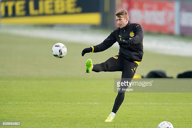 Marco Reus of Borussia Dortmund in action during a training session at the BVB Training center on January 25 2017 in Dortmund Germany