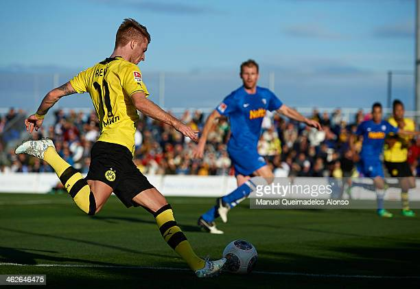 Marco Reus of Borussia Dortmund in action during the friendly match between Borussia Dortmund and VFL Bochum at Arena Football Center on January 14...