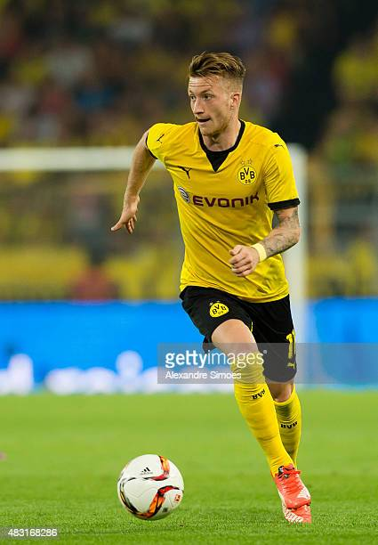 Marco Reus of Borussia Dortmund in action during the UEFA Europa League Third Qualifying Round 2nd Leg match between Borussia Dortmund and Wolfsberg...