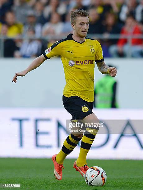 Marco Reus of Dortmund controls the ball during the friendly match between Juventus and Borussia Dortmund on July 25 2015 in St Gallen Switzerland