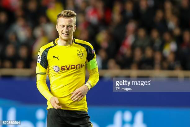 Marco Reus of Dortmund looks on during the UEFA Champions League quarter final second leg match between AS Monaco and Borussia Dortmund of Dortmund...