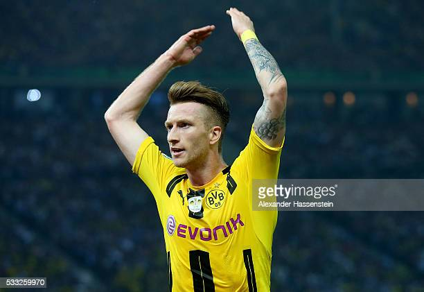 Marco Reus of Dortmund reacts during the DFB Cup Final 2016 between Bayern Muenchen and Borussia Dortmund at Olympiastadion on May 21 2016 in Berlin...