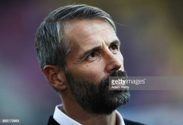 Marco Rose head coach of Red Bull Salzburg before the UEFA Europa League group I match between RB Salzburg and Olympique Marseille at Red Bull Arena...