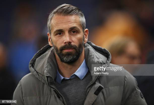Marco Rose head coach of Red Bull Salzburg before the UEFA Europa League group I match between FC Salzburg and Vitoria Guimaraes at Red Bull Arena on...