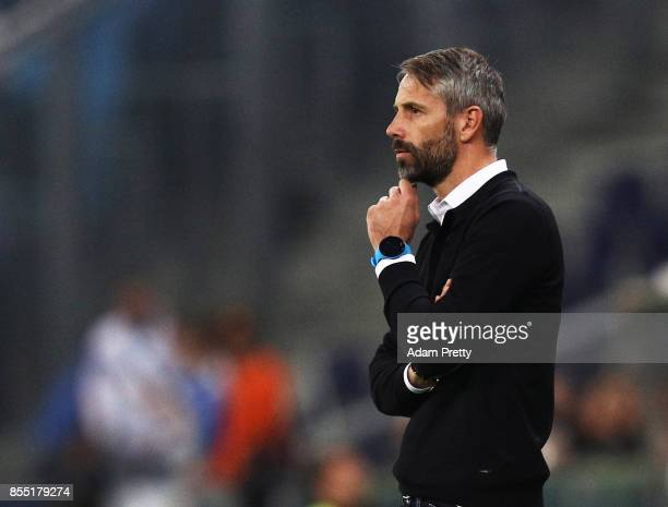 Marco Rose head coach of Red Bull Salzburg during the UEFA Europa League group I match between RB Salzburg and Olympique Marseille at Red Bull Arena...