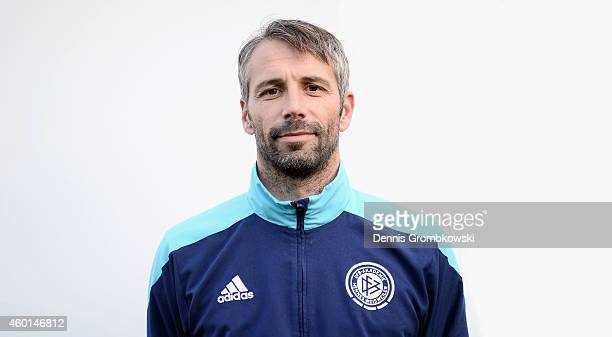 Marco Rose poses during the DFB Coach Course Photocall on December 8 2014 in Hennef Germany