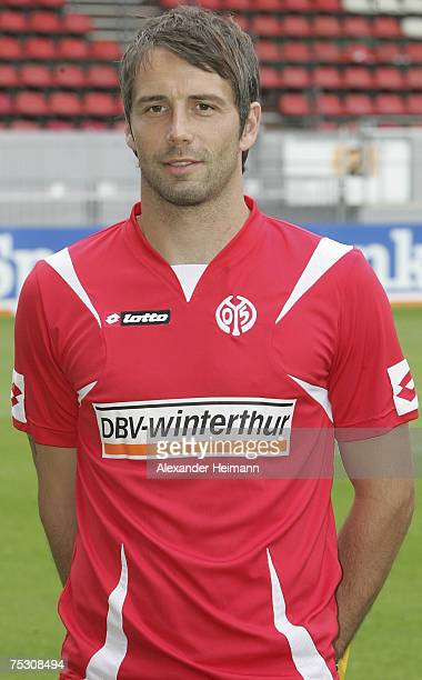 Marco Rose poses during the team presentation of the 2nd Bundesliga team FSV Mainz 05 at the stadium 'Am Bruchweg' on July 102007 in Mainz Germany