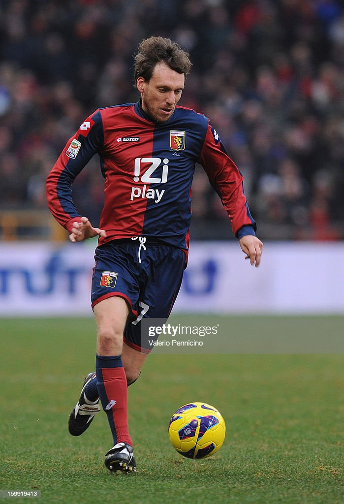 Marco Rossi of Genoa CFC in action during the Serie A match between Genoa CFC and Calcio Catania at Stadio Luigi Ferraris on January 20, 2013 in Genoa, Italy.
