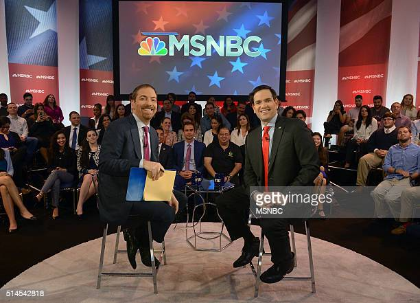 COVERAGE Marco Rubio Town Hall Pictured Chuck Todd and Senator Marco Rubio appear during an MSNBC Marco Rubio Town Hall at Florida International...