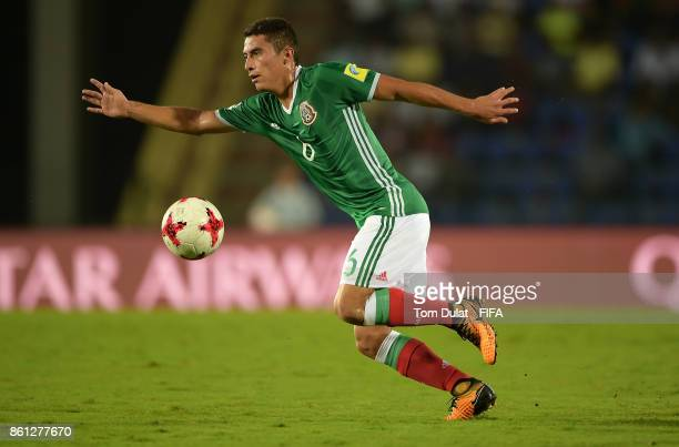 Marco Ruiz of Mexico in action during the FIFA U17 World Cup India 2017 group E match between Mexico and Chile at Indira Gandhi Athletic Stadium on...