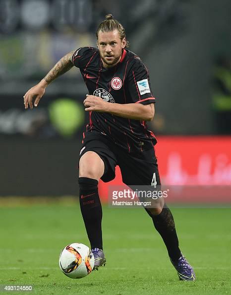 Marco Russ of Frankfurt controls the ball during the Bundesliga match between Eintracht Frankfurt and Borussia Moenchengladbach at CommerzbankArena...