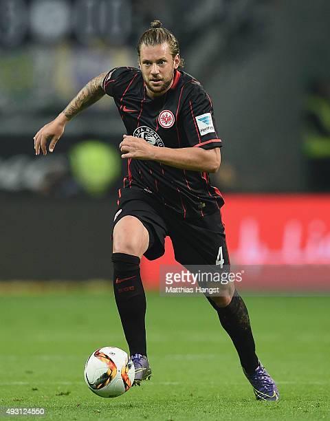 Marco Russ of Frankfurt controls the ball during the Bundesliga match between Eintracht Frankfurt and Borussia Moenchengladbach at CommerzbankArena...