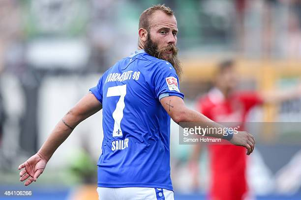 Marco Sailer of Darmstadt looks on during the Bundesliga match between SV Darmstadt 98 and Hannover 96 at MerckStadion am Boellenfalltor on August 15...
