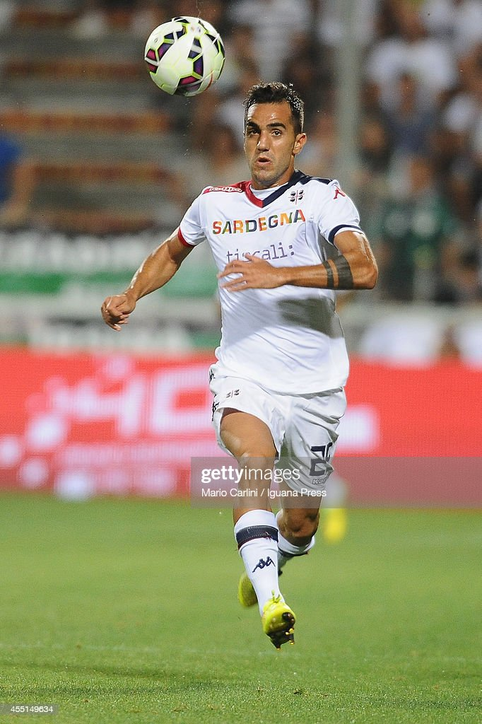 <a gi-track='captionPersonalityLinkClicked' href=/galleries/search?phrase=Marco+Sau&family=editorial&specificpeople=8343246 ng-click='$event.stopPropagation()'>Marco Sau</a> # 25 of Cagliari Calcio in action during the Serie A match between US Sassuolo Calcio and Cagliari Calcio on August 31, 2014 in Reggio nell'Emilia, Italy.