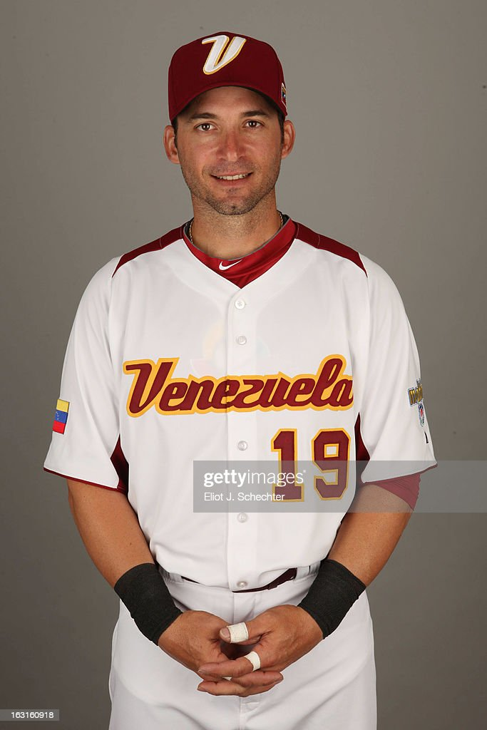 Marco Scutaro #19 of Team Venezuela poses for a headshot for the 2013 World Baseball Classic at Roger Dean Stadium on Monday, March 4, 2013 in Jupiter, Florida.