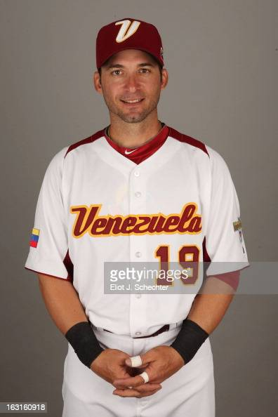 Marco Scutaro of Team Venezuela poses for a headshot for the 2013 World Baseball Classic at Roger Dean Stadium on Monday March 4 2013 in Jupiter...